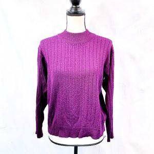 Alfred Dunner purple sweater